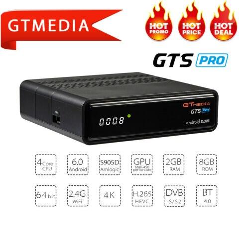 GTMEDIA GTS PRO Android 6.0 Smart TV BOX S905D 2G 8G décodeur 4K 3D H.265 Wifi lecteur multimédia TV récepteur iptv Box play store