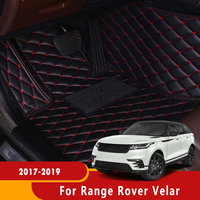 Auto Waterprof Accessories Leather Floor Liners Carpets LHD Car Floor Mats For Range Rover Velar 2017 2018 2019