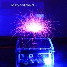 Bobina plana tesla música bobina tesla alta tensão equipamentos de descarga brinquedos experimentais relâmpago artificial
