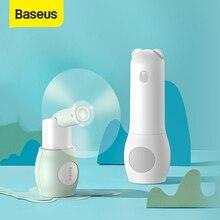 Baseus 2000Mah Draagbare Koeling Mini Usb Fan 2 Speed Stille Kleine Ventilator Oplaadbare Ventilator Handheld Outdoor Usb Fan desktop Fan