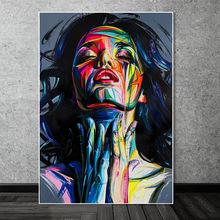 Абстрактные акварельные граффити для девушки портреты картина