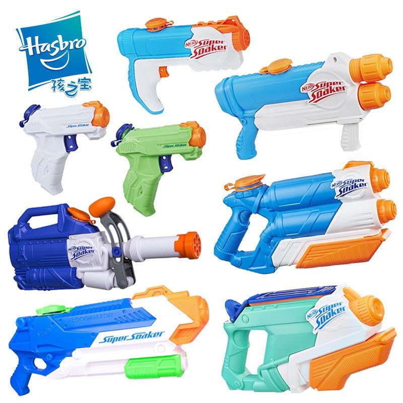Hasbro Nerf Gun Super Socker Large Capacity Watergun Children Outdoor Beach Play Games Toy