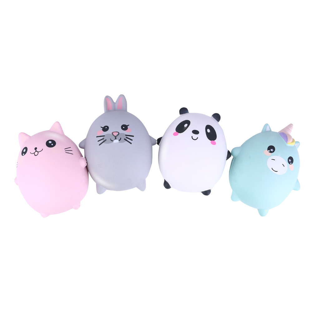 Adorable Animals Slow Rising Cream Scented Stress Relief Toys New Simulation Eggs Slow Squeeze Toy For Children For Kid L1223