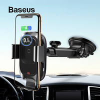 Baseus Car Wireless Charger Phone Holder For iPhone Xs Max XR Fast Wireless Charging For Samsung Note9 S9 Car Holder Charger