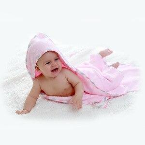 Image 3 - Weiche Reine Baumwolle Bad Handtuch für Baby THB5 Stark Saugfähigen Eltern kind Handtuch Warme Kleinkind Mit Kapuze Handtücher Neugeborenen liefert