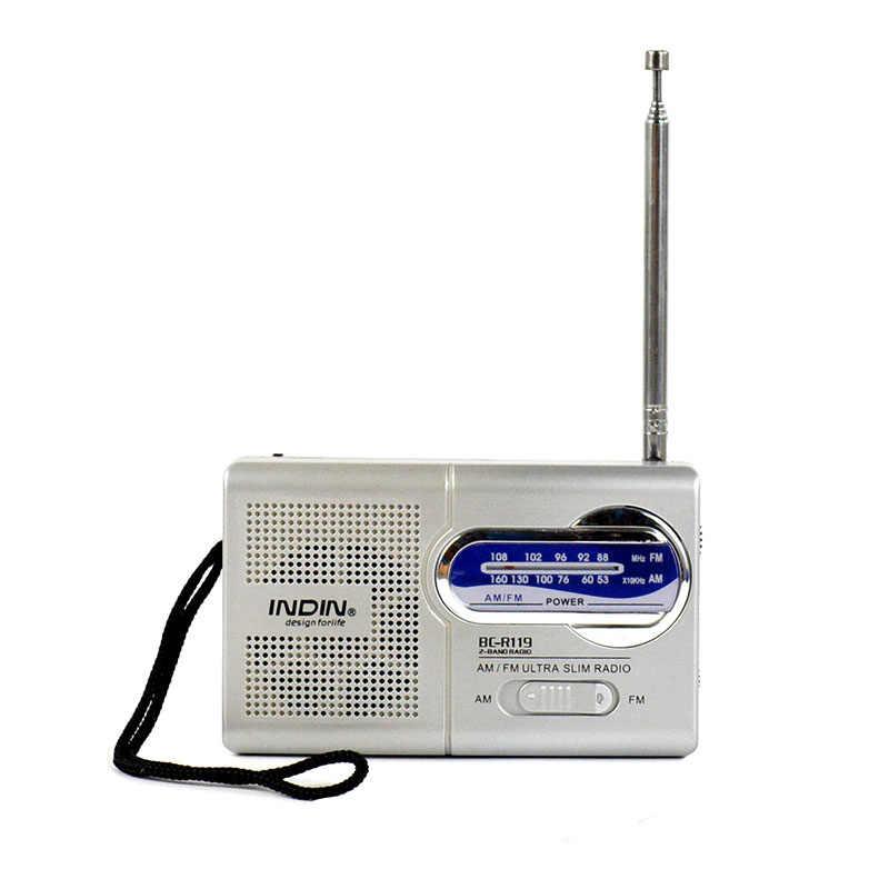 Draagbare Radio Am Fm Ontvanger Telescopische Antenne Ontvanger Mini Pocket Ingebouwde Luidspreker Mini MP3 Muziek Keuken Outdoor Speler