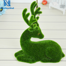 Christmas-Ornaments Craft Elk Fake-Table Artificial-Deer DIY Nuonuowell Moss-Grass Dispaly