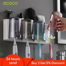 Ecoco banyo diş fırçası tutucu banyo organizatör elektrikli diş fırçası tutucu duvar banyo aksesuarları seti ev aksesuarları