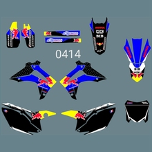 New Bull Full Graphics Decals Stickers Custom Number Name Glossy Bright Stickers for HONDA CRF450 2013-14 CRF250 2014-2016 h2cnc graphics decal sticker for honda crf250r crf250 2014 2016