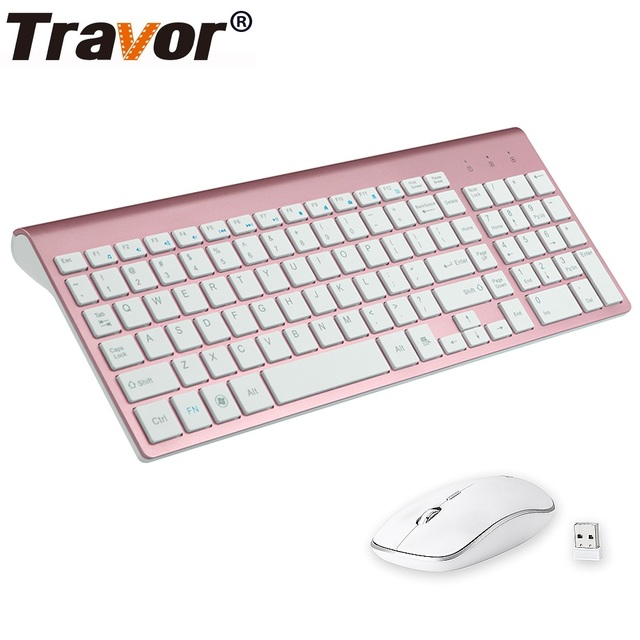 TRAVOR Wireless Mouse Keyboard Sets Portable 2.4G Wireless Mouse Full Size 102 keys Wireless Keyboard For Computer Laptop Tablet 1