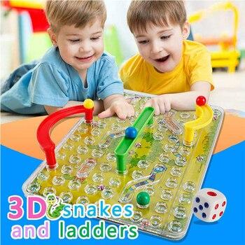 3D serpientes y escaleras de mesa juego de mesa para niños actividad...