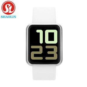 Image 1 - חכם שעון נשים גברים ספורט אופנה עמיד למים שעון פעילות גשש כושר קצב לב ברים Smartwatch עבור אפל שעון PK IWO