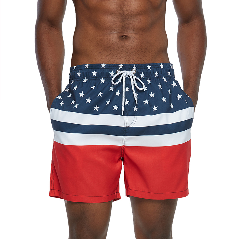 Mens Sports Short Beach Shorts Bermuda Board Shorts Surfing Swimming Boxer Trunks Bathing Suits Swimwear Swimsuits