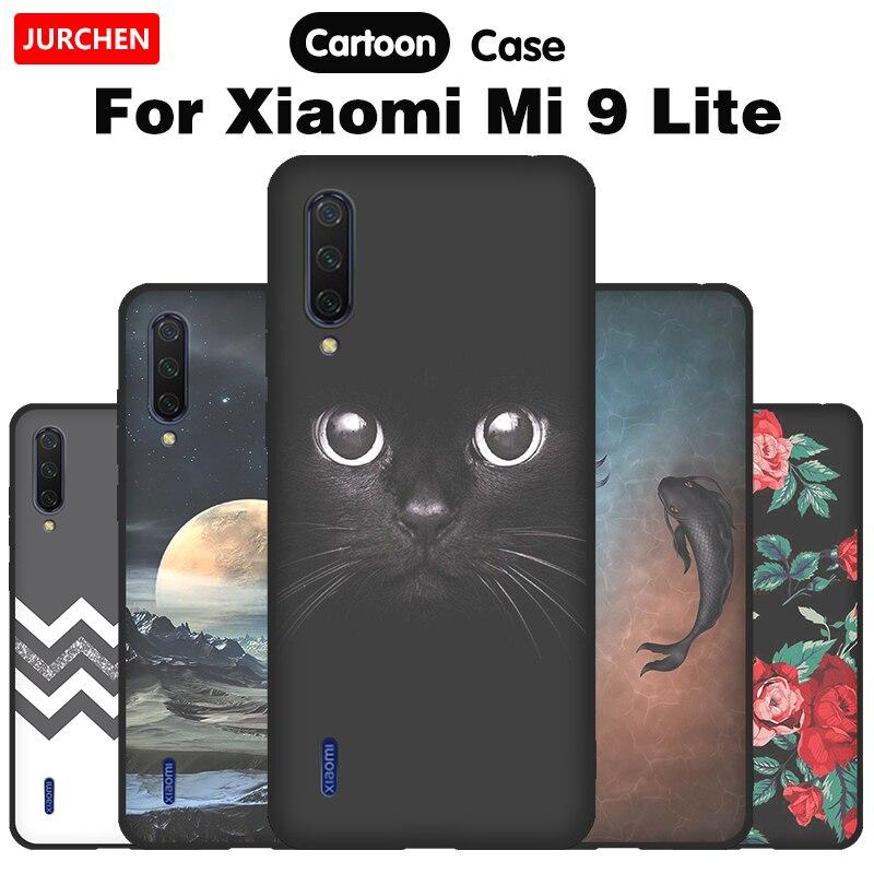 Silicone Case For Xiaomi Mi 9 Lite Case For Xiaomi Mi9 9Lite Cartoon Soft TPU Cute Back Cover For Xiomi Mi9 Lite Case