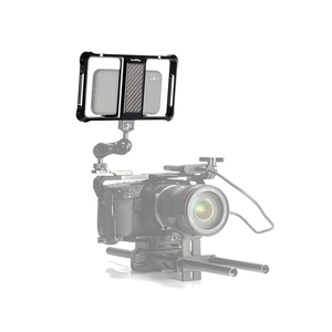 Image 5 - منصة صغيرة عالمية للهاتف المحمول قفص تسجيل الفيديو اطلاق النار قفص الهاتف الملحقات مع الحذاء البارد Mount  2391