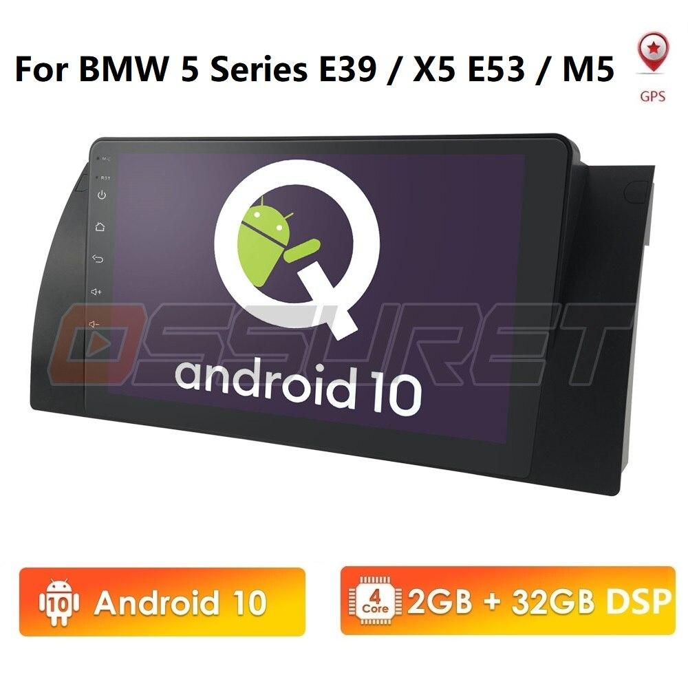 """Android 10 Quad Core GPS Navigation 9"""" Car DVD Player for BMW E39 E53 5 Series/M5 1997-2003 Wifi Bluetooth DVR RDS USB EQ 4G"""