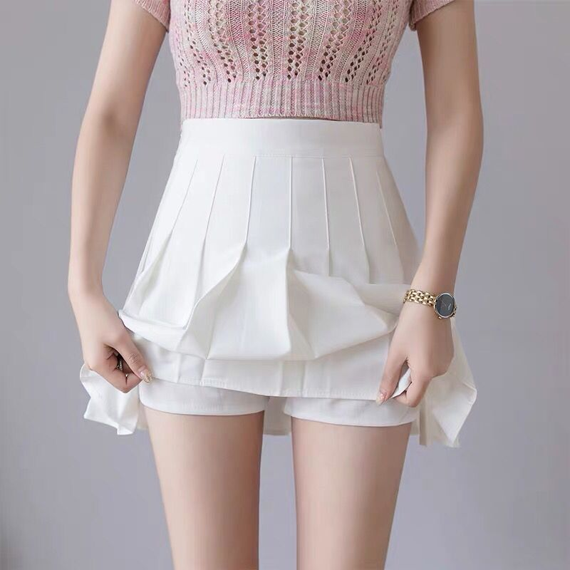 QRWR Fashion 2021 Kawaii Summer Women Skirts High Waist Cute Sweet Girl's Pleated Skirt Korean Style Mini Skirts for Women 4