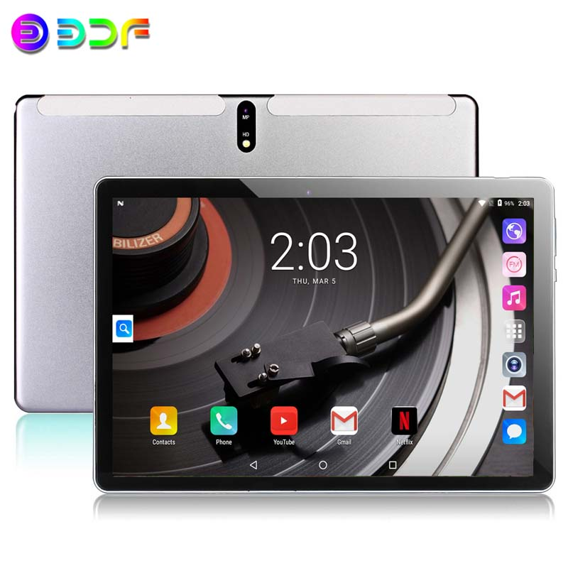 New 10.1 Inch Tablets 2GB/32GB ROM Android 9.0 4G Phone Call Octa Core Bluetooth Wi-FI 2.5D Steel Screen Tablet PC+Keyboard