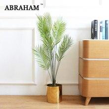 125cm fałszywe palma duże sztuczne rośliny plastikowe liście drzewa tropikalnego fałszywe Monstera zielona palma liście na ślubny wystrój domu