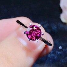 CoLife bijoux argent Six griffes anneau 6mm naturel grenat anneau pour usage quotidien 925 argent grenat bijoux cadeau pour femme