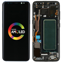 Original S8 LCD For Samsung Galaxy S8 Plus LCD Display With Frame AMOLED S8 G950F G950A Screen Display S8 Plus G955F G955A LCD