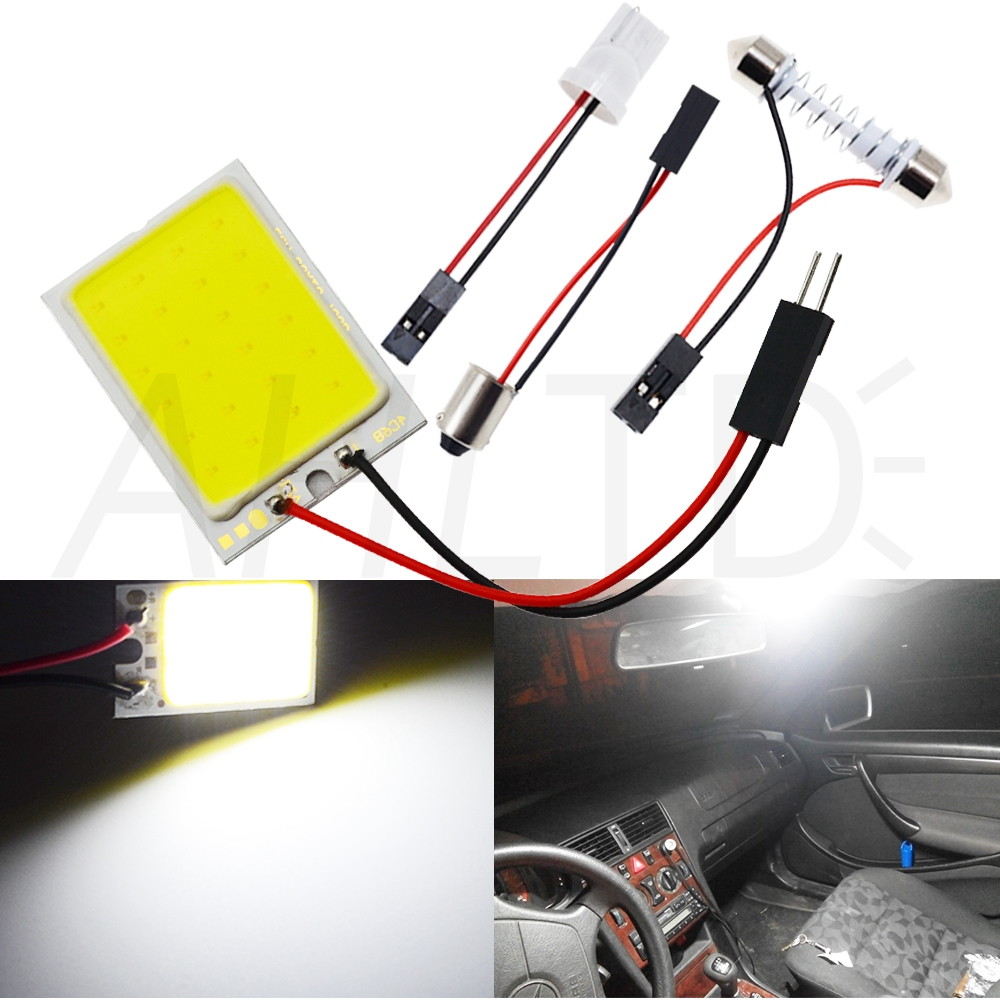 H754a1c4417af4666b86335bba9dd6912V Car Led T10 C5W Cob 24 36 48SMD White Reading Car Led parking Bulb Auto Interior Panel Light Festoon License Plate light Bright