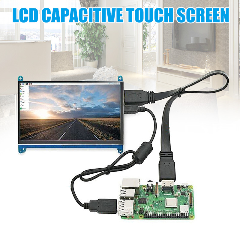 New Hot 7 Inch Touch Screen 1024x600 Resolution LCD <font><b>Display</b></font> HDMI TFT Monitors Compatible for <font><b>Raspberry</b></font> <font><b>Pi</b></font> image