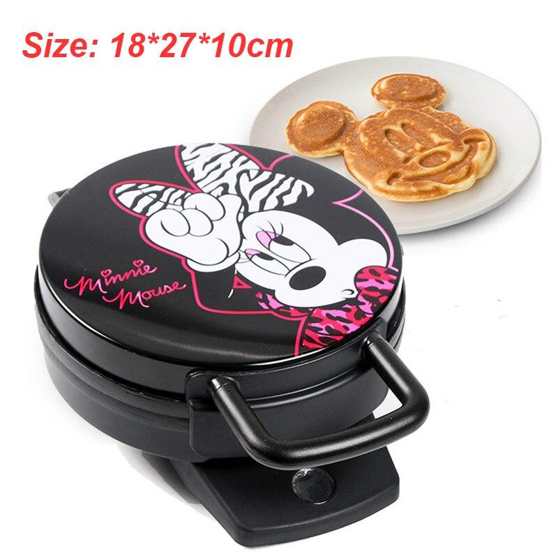 220V adorables formas de dibujos animados máquina eléctrica para hacer gofres pastel para el desayuno Placa de hierro para hornear máquina antiadherente para tortas - 2