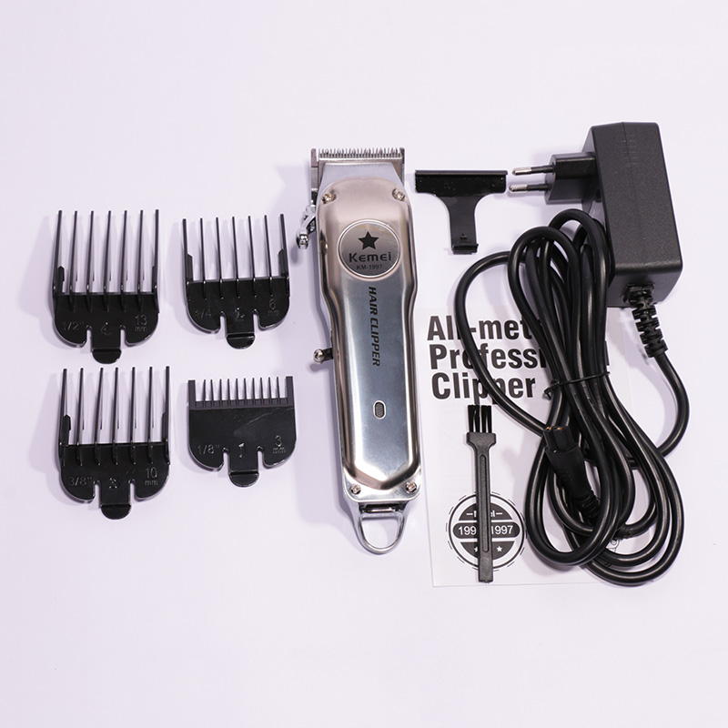 Image 5 - 110 240v all metal professional clipper for barber rechargeable hair trimmer men electric beard shaver hair cutting machine-in Hair Trimmers from Home Appliances