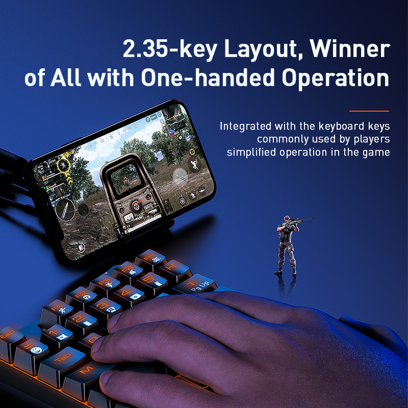 cheapest Flydigi Wasp 2 Pro One-handed Gamepad PUBG COD Artifact Peripheral Auxiliary Automatically Grabs a One-click Dress up with Dots