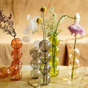 Vase Flower-Arrangement Crystal-Ball Bubble-Glass Glass-Art Home-Decor INS Ware
