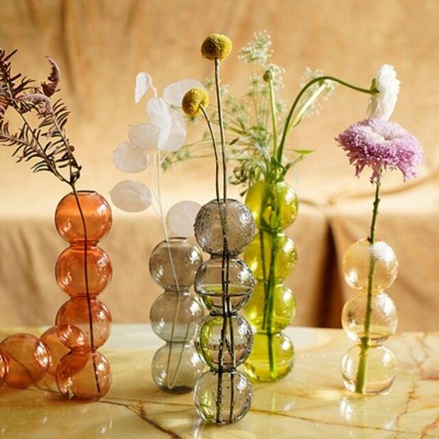 INS Crystal ball bubble Glass Vase Flower arrangement hydroponics ball glass art flower ware Home Decor 1