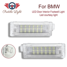 2x 18smd LED Door Interior Footwell Light Led courtesy light CAR Styling For BMW E90 E93 E81 E82 E83 E84 E85 E86 E88 F25 MINI