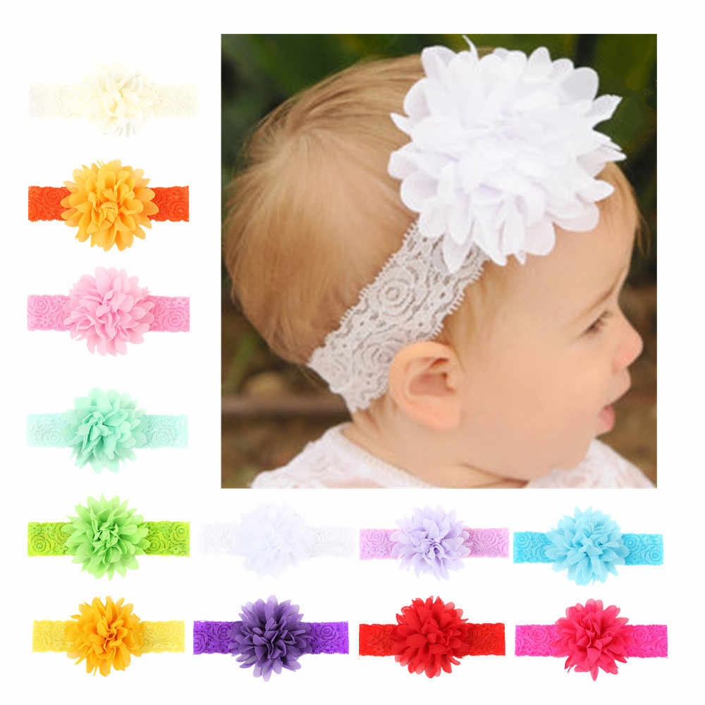 Girl Lovely Baby Toddler Lace Pearl Flower Hair Band Headwear New Headband XS