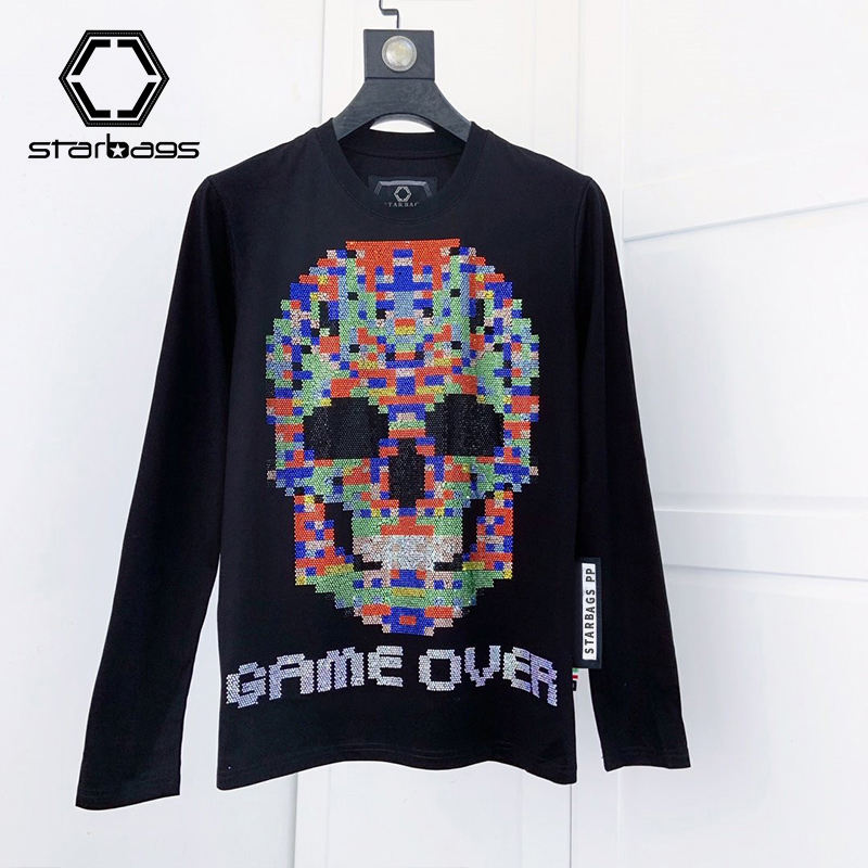 Starbags Pp Winter Chenille Sweater Men's Round Neck With Fleece Skull Thickened Thermal Sweater Winter Men's Fashion