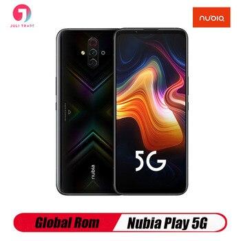 Перейти на Алиэкспресс и купить Глобальная версия Nubia Red Magic 5G игровой смартфон 8 Гб 128 ГБ 6,65 дюйм144 Гц Snarpdragon 865 NFC UFS3.0 оригинальный деловой телефон