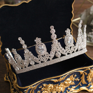 Image 3 - 高級ティアラと王冠czジルコニア王女ページェント婚約カチューシャウェディングヘアアクセサリーイブニングドレスブライダルジュエリー
