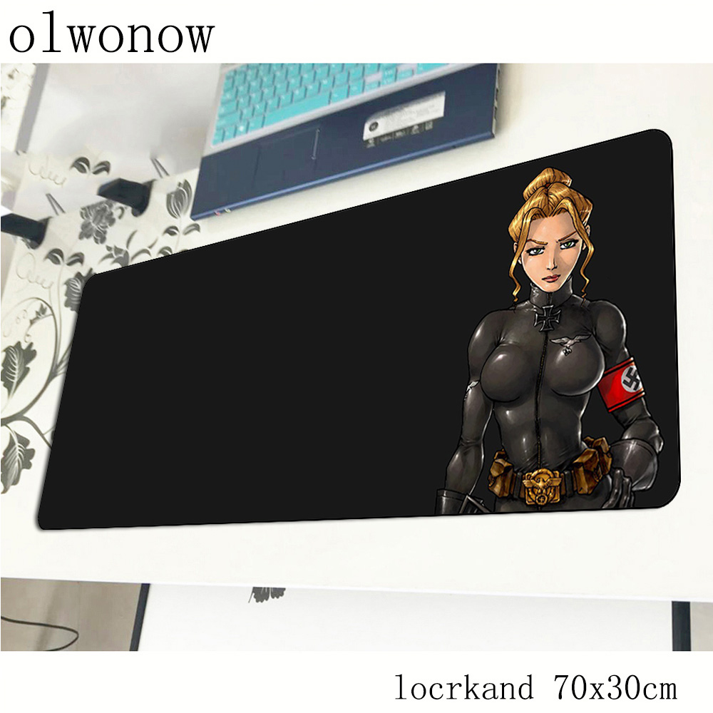 Wolfenstein Mouse Pad Gamer Locrkand 700x300x2mm Notbook Mouse Mat Gaming Mousepad Esports Best Pad Mouse PC Desk Padmouse