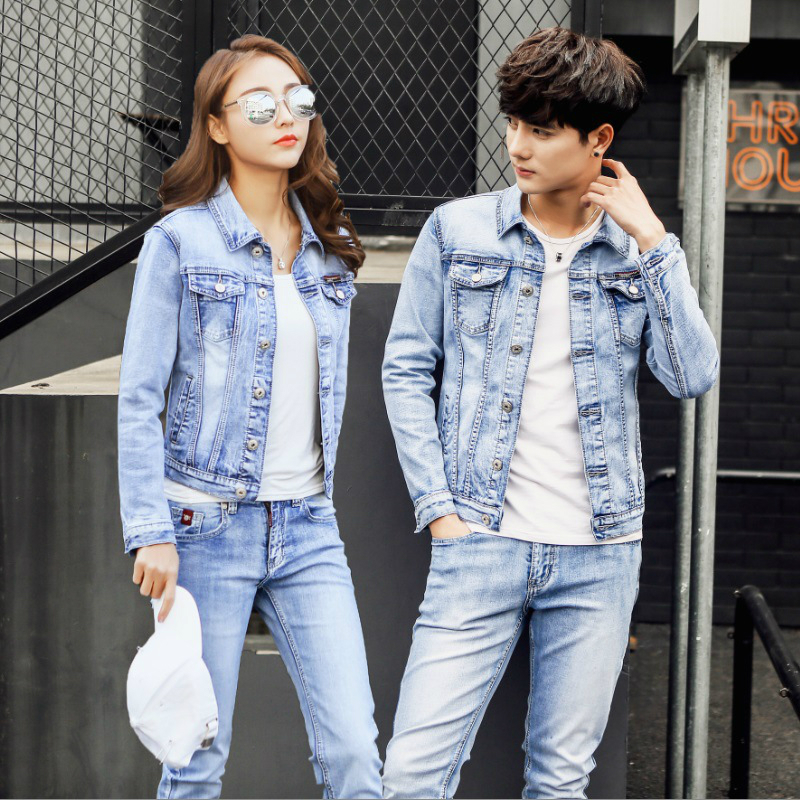 Mens Jeans Suit Sweat Women Set Men Jacket Spring/autumn Jeans Tracksuit Street Style Cowboy Coat Plus Size Men's Casual Suit