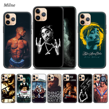2Pac Tupac Shakur Case for Apple iphone 11 Pro XS Max XR X 7 8 6 6S Plus 5 5S SE 5C Black Soft Bag Phone Cover Coque ayrton senna case for apple iphone 11 x xr xs max 7 8 6 6s plus 5 5s se 5c black silicone cobrir phone cover coque