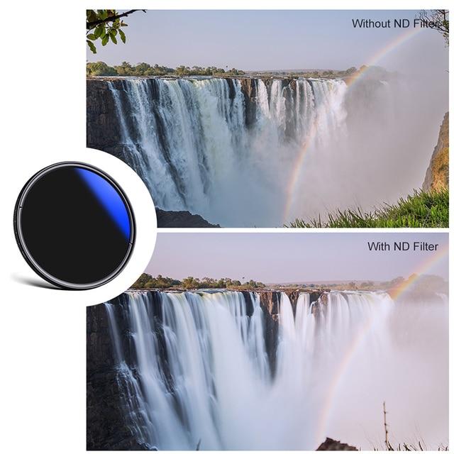 K&F CONCEPT 37-82mm ND2 to ND400 ND Lens Filter Fader Adjustable Neutral Density Variable 49mm 52mm 58mm 62mm 67mm 77mm 3