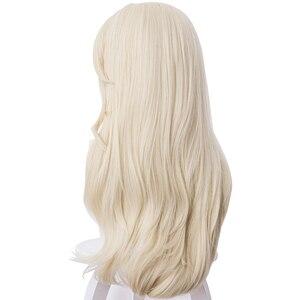 Image 4 - למבוגרים נסיכת קוספליי פאות 65cm ישר עמיד בחום סינטטי שיער מפלגה פאות