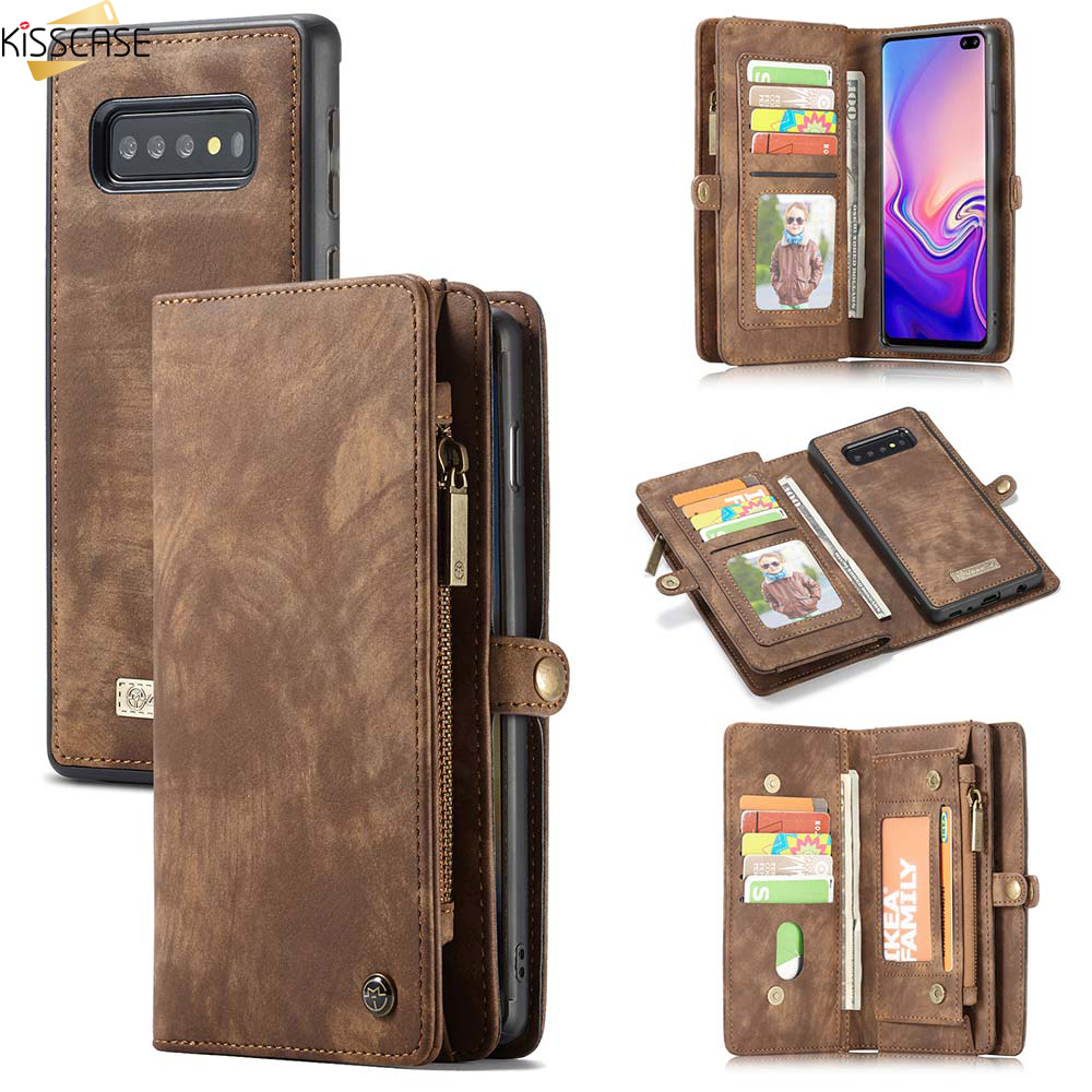 KISSCASE Leather <font><b>Flip</b></font> <font><b>Case</b></font> for <font><b>Samsung</b></font> <font><b>A70</b></font> A40 A50 Wallet <font><b>Case</b></font> For Samaung <font><b>Galaxy</b></font> S10 E S9 S8 Plus S7 Edge Note 9 10 Plus Cover image