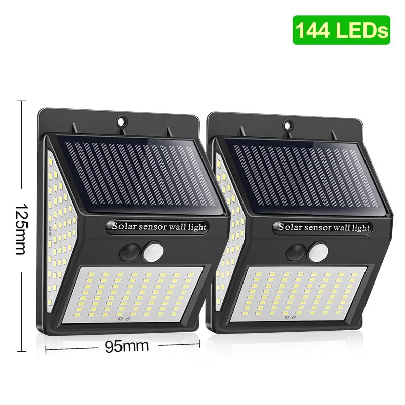 144 100 1/2/4 * светодиодный солнечный светильник уличный светильник на солнечной энергии солнца светильник уличный светильник для украшения са...