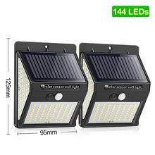 144 100 1/2/4 * diodo emissor de luz solar ao ar livre lâmpada solar luz de rua luz solar para a decoração do jardim pir sensor de movimento movido a energia solar