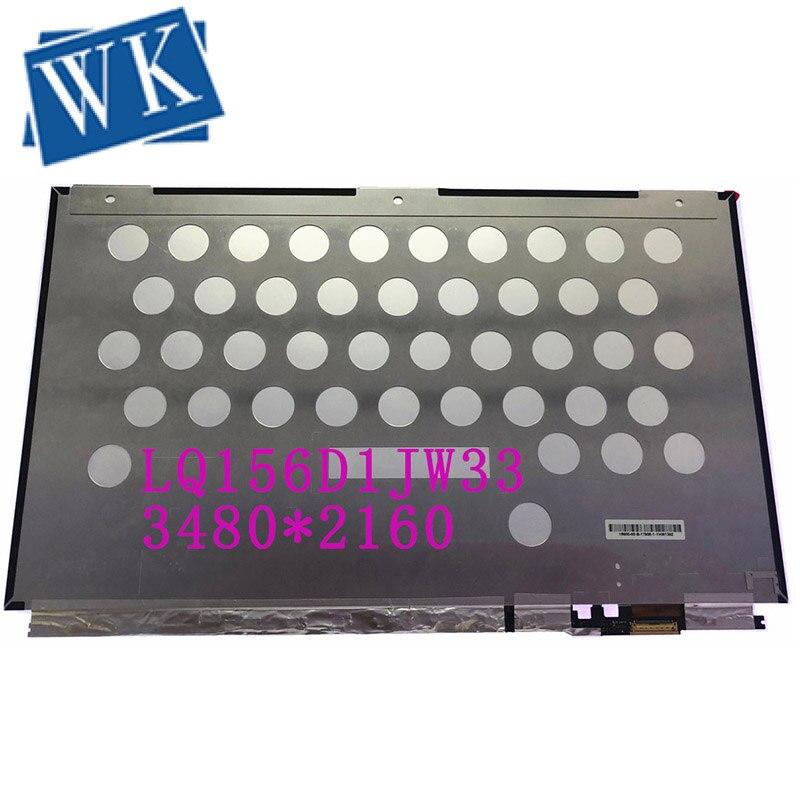 Livraison gratuite LQ156D1JW33 15.6 ''UHD 4K panneau de écran lcd d'ordinateur portable 3840*2160 EDP 40 broches 96% NTSC NP/N: 0Y2XND