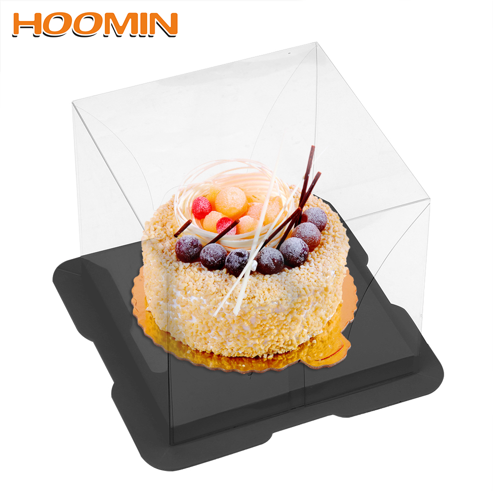 HOOMIN PET Candy Cake Box Food Packaging Gift Box With Bottom Bracket Clear Cupcake Box Wedding Party Cake Cake Decoration