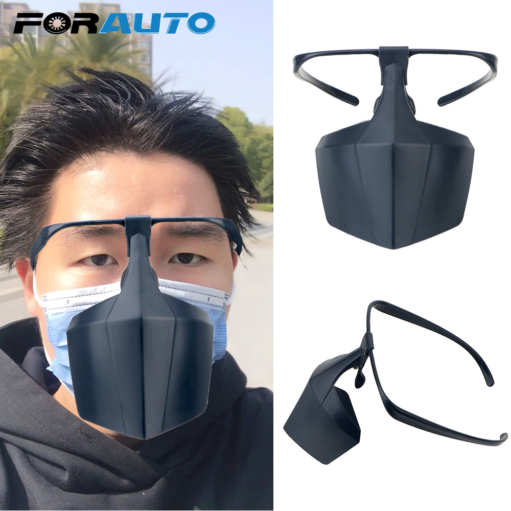 FORAUTO Reusable Protective Cover Face Shield Protective Mask Prevent Saliva Spread Mask Anti-fog Face Mask Against Droplets