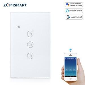 Image 1 - Zemismart NOUS Tuya Commutateur de Lumière WiFi Neutre OptionalWire 1 2 3 Gangs Alexa Google Home Assistant Vie Intelligente Contrôle 220v 240V