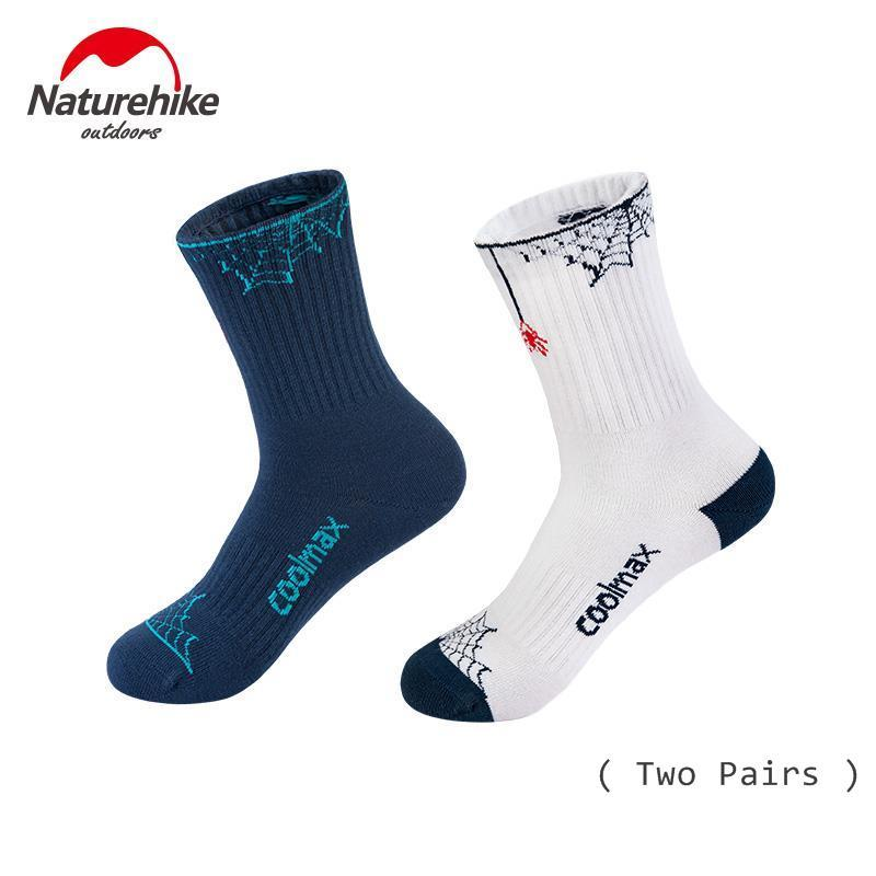 Naturehike 2 Pairs Coolmax Outdoor Hiking Sports Skateboarding Sock Quick-drying Men And Women Four Seasons Wear-resistant Socks